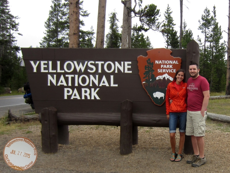 Yellowstone with Stamp