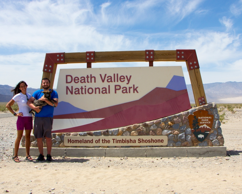 Death Valley Sign Blog